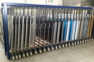 tread plate vertical metal sheeting rack