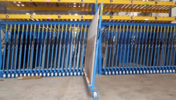 racking for metal plate