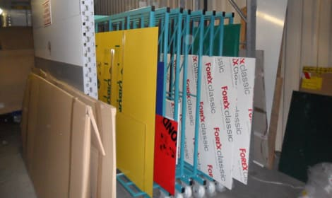 warehouse rack for dibond sheets aluminium