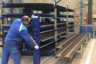 manual lever wind roll-out drawer cantilever