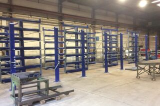 industrial storage system for tubes bars long metal pieces