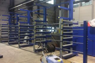 roll-out cantilever rack
