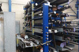metal bar storage rack