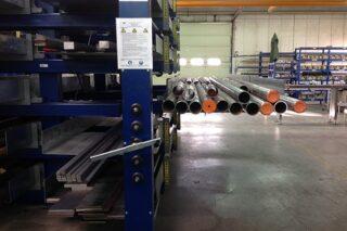metal workshop tube pipe storage solution