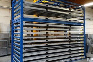 metal sheet forklift rack cassettes