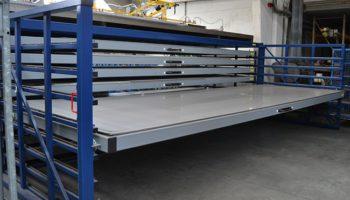 Roll-out drawer metal sheet rack