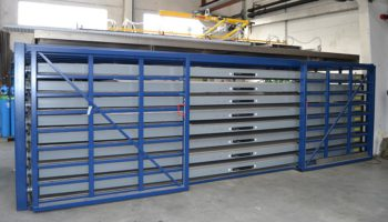 Pull-out drawers metal sheet rack