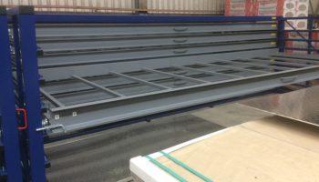 horizontal rack drawers flat metal sheets