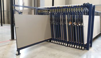 vertical sheet metal storage