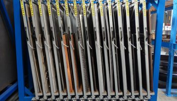 metal sheeting scraps rack