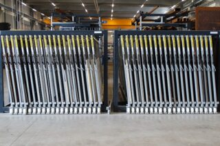 vertical sheet metal rack