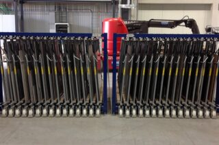 steel sheets storage rack vertical