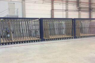 vertical metal sheets storage solution