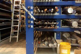 metal bar stock storage solution rack